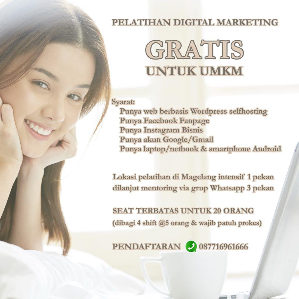 pelatihan digital marketing gratis